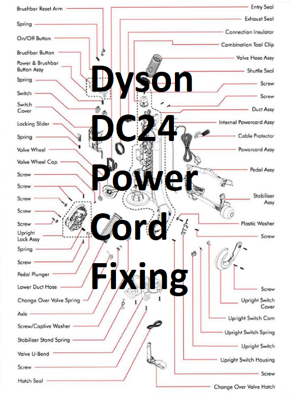 dc24 power cord replacement